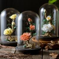 Китайский стиль керамических работ пион аксессуары для дома гостиная украшения ручной работы Цветы ремесла орнамент Фарфоровые аксессуар