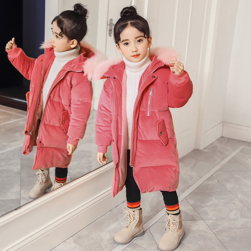 2018 New Winter Girls Coats Baby Boy Hooded Fur Collar Kids Down Jackets Thick Long Sleeve Warm Clothes Fashion Cute Outerwear buenos ninos thick winter children jackets girls boys coats hooded raccoon fur collar kids outerwear duck down padded snowsuit