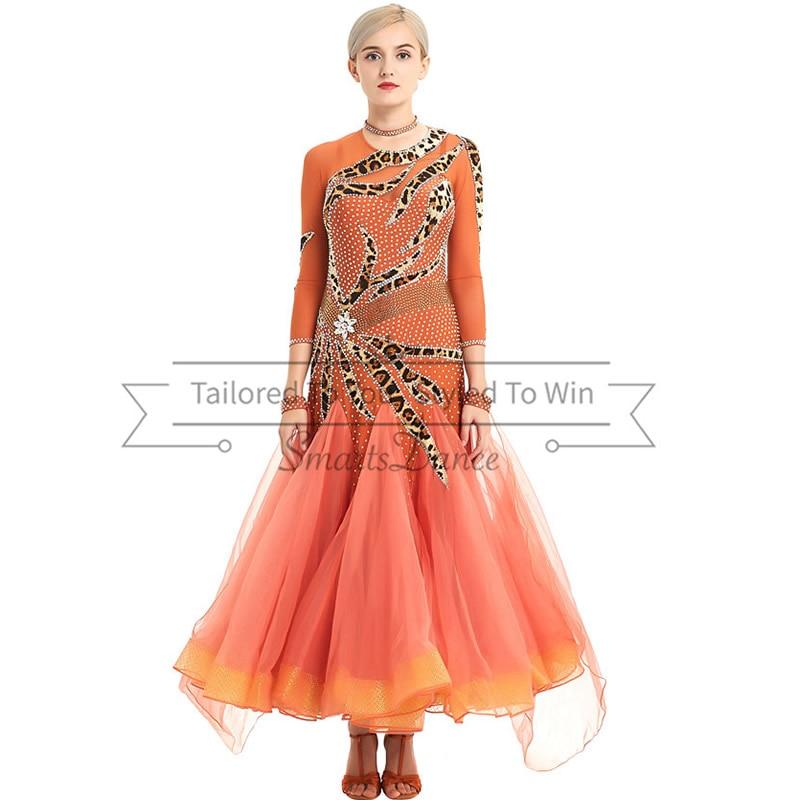 Robe de danse valse col en U robe de compétition valse robes de danse valse livraison gratuite robes latines pour robes de compétition pour latin
