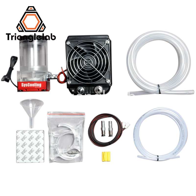 trianglelab Titan AQUA Water Cooling Kit for DIY 3D printer for E3D Hotend Titan Extruder for TEVO 3D printer Upgrade KIT flsun 3d printer big pulley kossel 3d printer with one roll filament sd card fast shipping