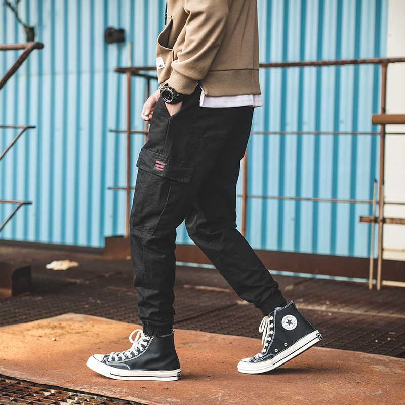 Pantalones Cargo hombres Multi-Bolsillo cintura elástica Harem pantalones Hip Hop Pantalones Casual pantalones Joggers macho M-3XL