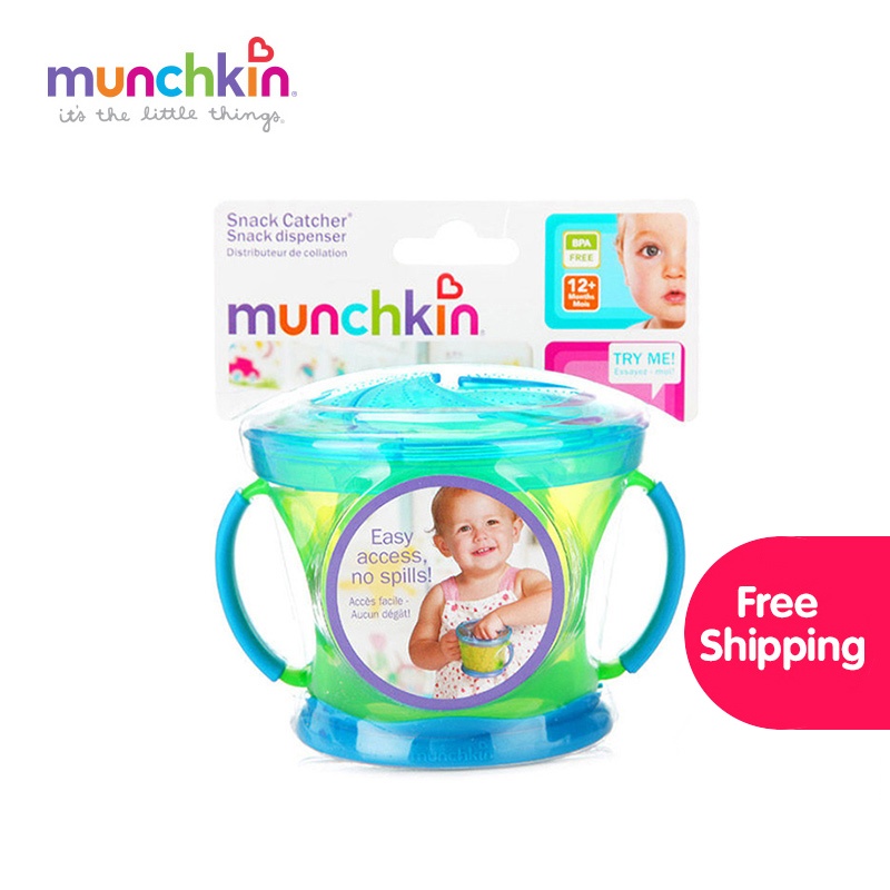 Munchkin Snack Catcher Food Cup 1pk free shipping worldwide Colors Random Send Safe Baby Child Kids Food Snacks Cup BPA-free