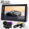 7020G Car Radio DVD MP5 Video Player Rear Camera 7 Inch Touch Screen Bluetooth FM GPS