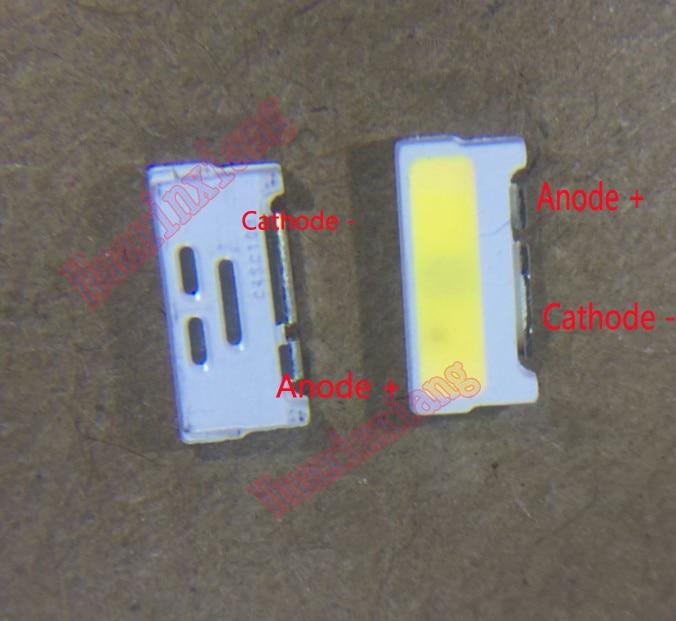 100PCS/Lot Lumens SMD 7032 3V 0.7W Coole White Side Lighting For TV/LCD Backlight Application
