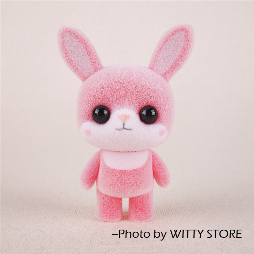 Kawaii PVC Flocking Doll Cute Rabbit Exquisite Decoration Doll Surprise Christmas Gifts Toy For Girls super cute plush toy dog doll as a christmas gift for children s home decoration 20