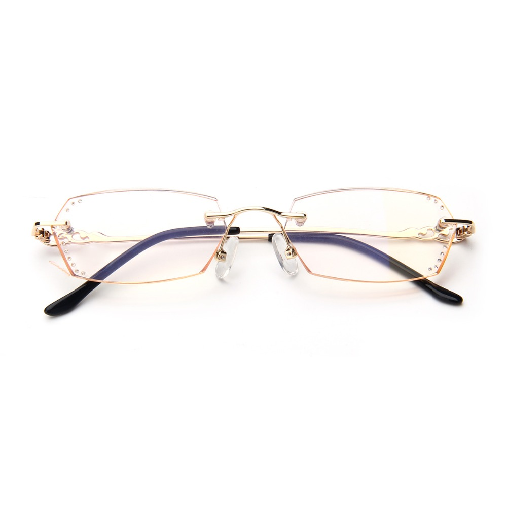 Frameless Glasses Trend : Fashion Frameless Diamond Cut Reading Glasses Women ...