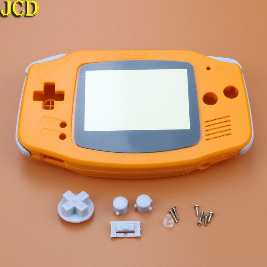 Image 3 - JCD 1 шт. Пластиковая крышка корпуса для игровая приставка GBA Корпус Корпуса + Защитная пленка для экрана + Этикетка наклейка для Gameboy Advance-in Чехлы from Бытовая электроника