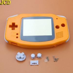 Image 3 - JCD 1 pcs ฝาครอบพลาสติกสำหรับคอนโซล GBA Shell Case + เลนส์หน้าจอ Protector + Stick ป้าย gameboy Advance