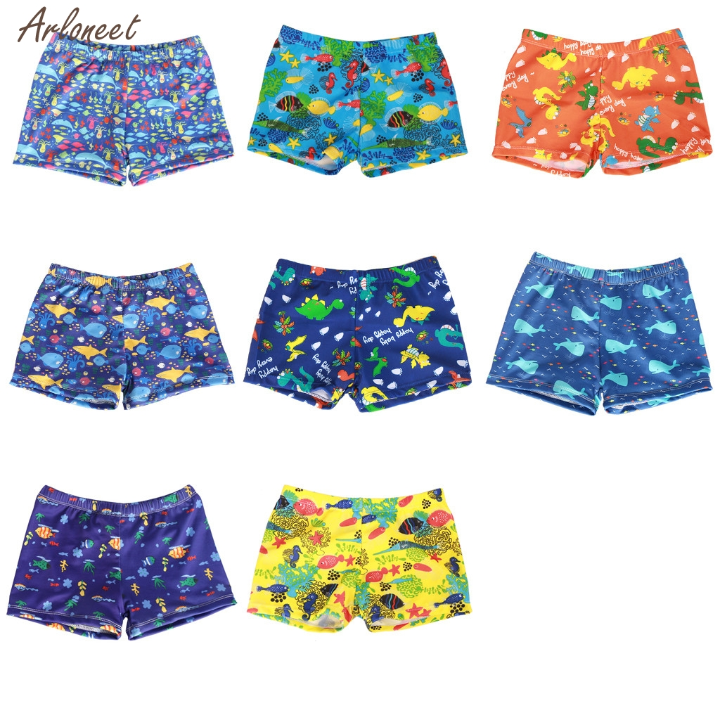 672f935d7bdd6 New Child Summer Swim Trunks Toddler Baby Kids Boy Summer Print Swimwear  Swimsuit Beach Pants Casual