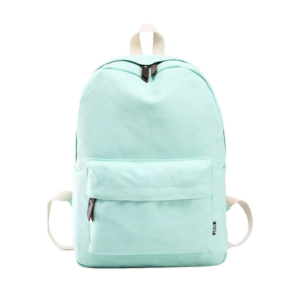 TEXU simple solid Women backpack Canvas teenage girl school bags Travel Backpack Satchel shoulder school bag Rucksack LOT