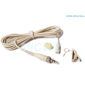 """Image 3 - Bej ME2 Klip Yaka Yaka Mikrofonu Mikrofon Sennheiser EW G1 G2 G3 Kablosuz 1/8 """"Kilit Fişi"""