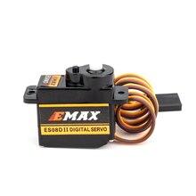 공식 emax 서보 emax es08d ii 마이크로 서보 플라스틱 기어 rc 모델 용 1.8 kg/sec rc 서보