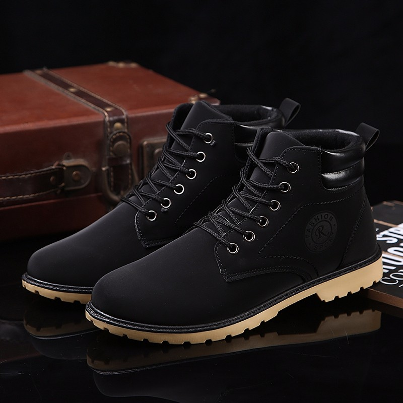 YWEEN Men Leather Boots Autumn Winter High Style Waterproof Fashion Outdoor Work Shoes Casual Martin Boot For Man Hot Sale 25