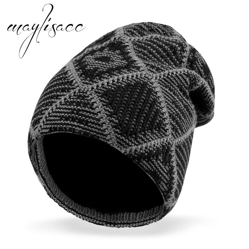 Maylisacc Winter Warm Knitted Hat   Skullies     Beanie   Slouchy Cap Lined Hat with Thick Fleece Lining for Men Women Skating Skiing