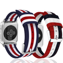 Striped Nylon strap for apple watch band 44mm & for apple watch 3 band 38mm bracelet for apple watch 40mm for iwatch 3 2 1 42mm marc saltzman apple watch for dummies