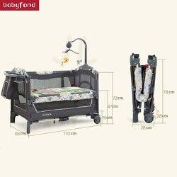 سرير قابل للطي متعدد الوظائف للأطفال بعمر 0-3 سنوات سرير قابل للحمل أوروبي Bb مع ناموسية للأم