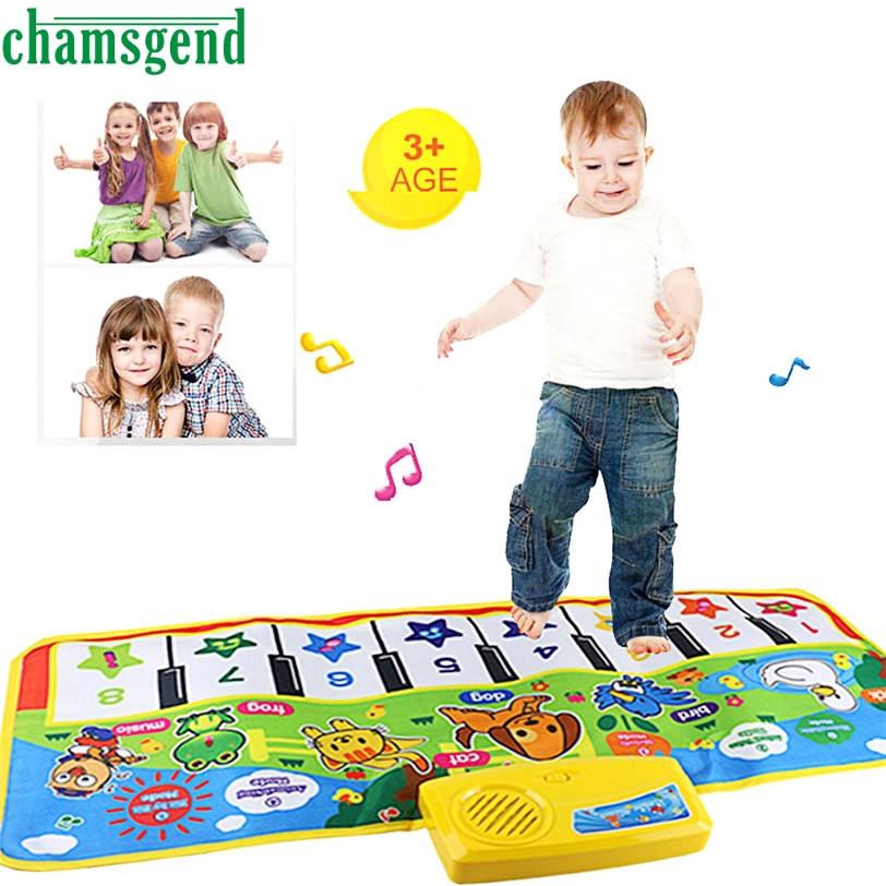 CHAMSGEND Best seller New Click Play Keyboard Musical Music Singing Gym Carpet Mat Best Kids Baby Gift o toque tocar teclado S7