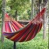 190cm X 80cm Hammock Hamac Outdoor Leisure Bed Stripe Hanging Bed Double Sleeping Canvas Swing Hammock