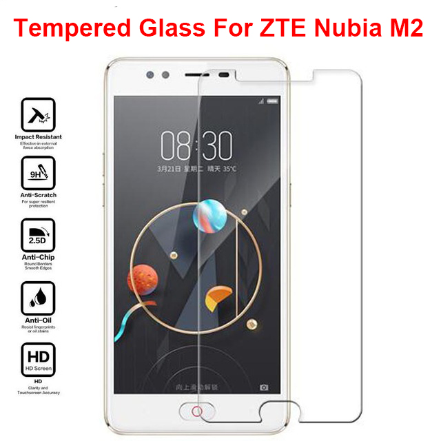 For ZTE Nubia M2 Glass For ZTE Nubia M2 Tempered glass Screen Protector 9H Protective Glass Film on M 2 NX551J pelicula de vidro(China)