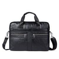 2018 Time Limited Kvky Brand Business Men Briefcases 100 Genuine Leather Handbags Cow Large Messenger Bags