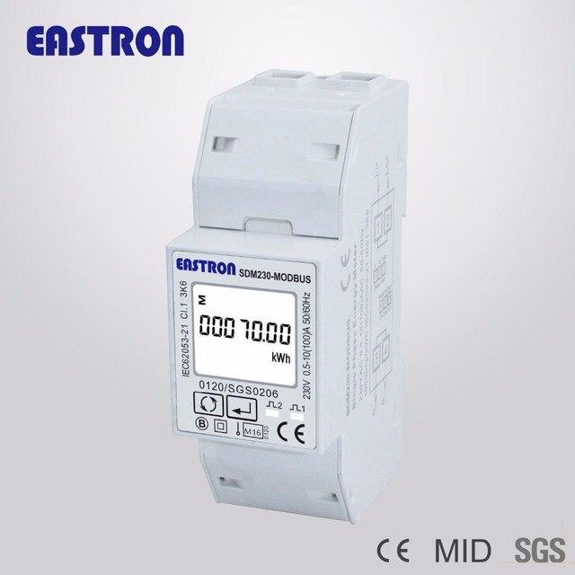 SDM230 Modbus 220/230 В одного метра энергии фазы, двойной DIN модуль, двунаправленный, Multi Функция, RS485, Импульсный/Modbus выход