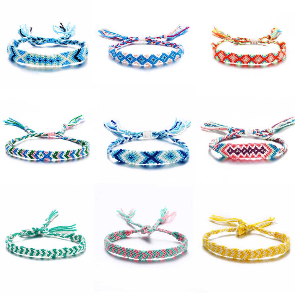 W stylu Vintage wielu warstwy czeski tkana bransoletka dla kobiet mężczyzn Rattan przyjaźń bransoletka Charms 2019 Femme moda biżuteria