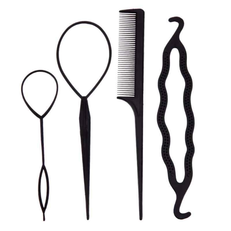 4 Pz Capelli Twist Hair styling Clip Stick Bun Testa Polpetta Creatore Pettine Treccia Accessori Per Le Donne Signora Girls Capelli ornamenti