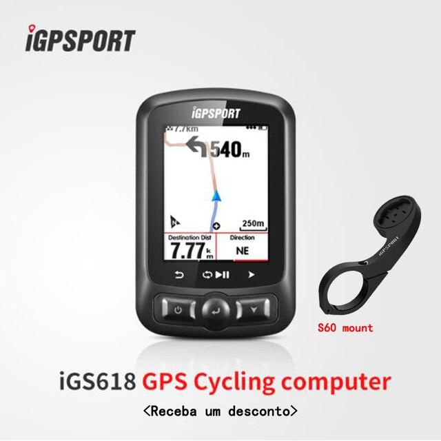 Pantalla a Color ciclo computadora gps iGS618 iGPSPORT rastreador gps bicicleta navegación velocímetro IPX7 3000 horas de almacenamiento de datos