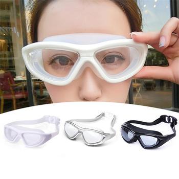 705a5a0594 Nuevas gafas de natación hombres y mujeres Anti-niebla profesional  impermeable silicona arena piscina natación gafas adultos natación gafas