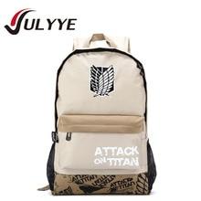 Hot ! Attack on Titan Backpack Japan Anime Printing School Bag Backpack For Teenagers Cartoon Travel Bag Canvas Nylon Bag