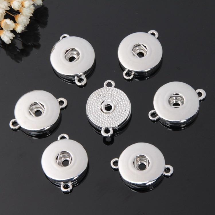 factory wholesale 50pcs/lot 18mm metal button charm snap socket diy button findings snap pendants for ginger snap button jewelry snap button jewelry