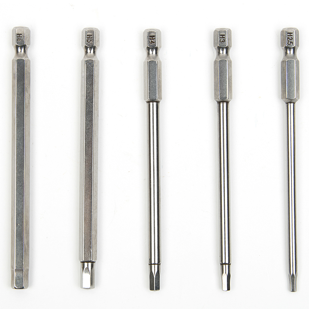 5pcs 100mm S2 acciaio interno esagonale trapano testa cacciavite set - Utensili manuali - Fotografia 1