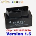 V1.5 Super MINI Bluetooth ELM327 OBD2 Negro/OBDII ELM 327 Versión 1.5 Coches Escáner de Código