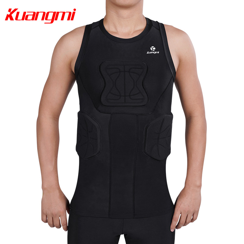 Kuangmi Men Gym Clothing Fitness Sportswear Compression Tights Suits Running Sport Tight Jogging T shirt and Pants Set Clothes