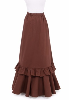 Rachel Mae Edwardian Cotton Skirt Victorian French Pleated Gathered Bustle Skirts