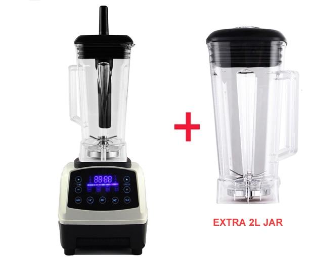 US $83 63 57% OFF|Automatic Digital Smart Timer Program 2200W Heavy Duty  Power Blender Mixer Juicer Food Processor Ice Smoothie Bar Fruit-in  Blenders