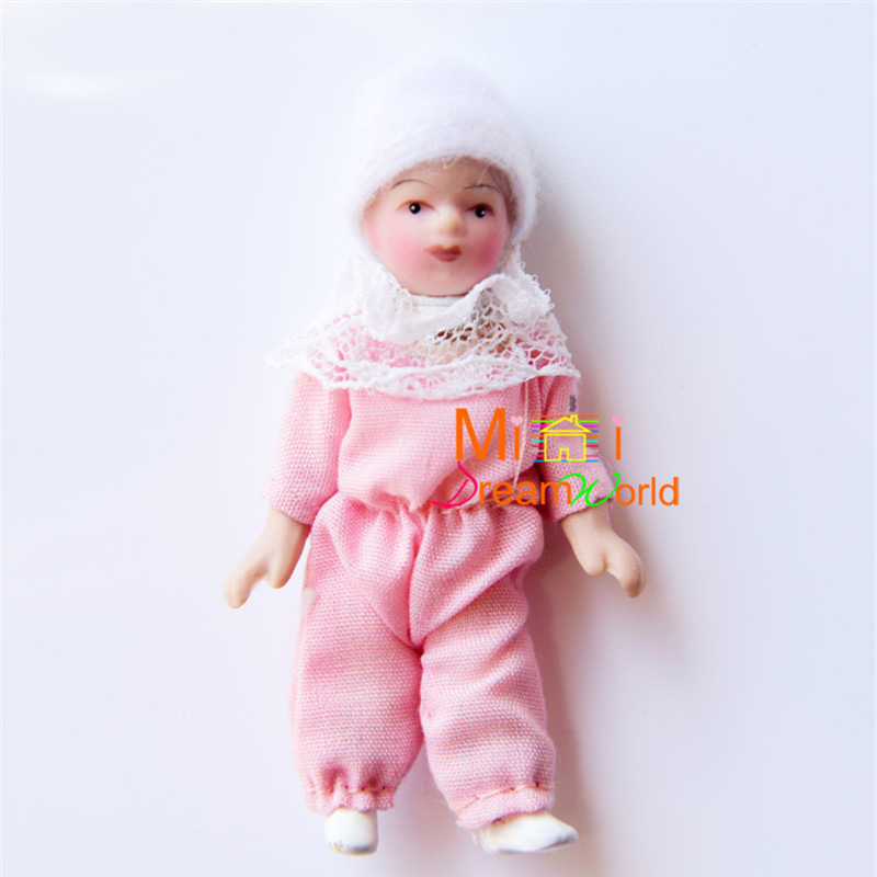 1:12 dolls mini baby doll for dollhouse furniture toy kids family pretend play toys miniature ceramics doll for girls gifts new