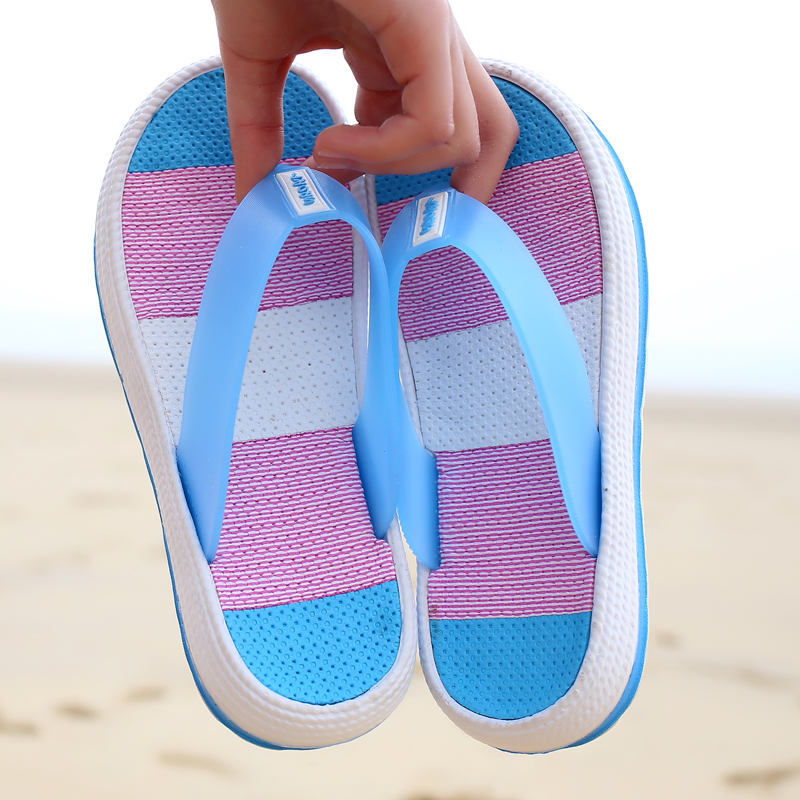 2018 Female Thick Heel Slipper Shoes Platform Bath Shoes Women Wedge Slippers Beach Flip Flop Platform Sandals Shoes Summer