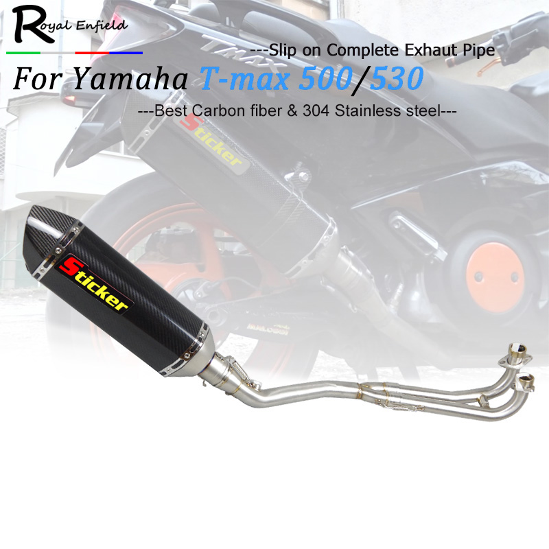 Exhaust Full system FOR Yamaha T-MAX Tmax 500 530 T-MAX 500 530 2001 2002 2003 2004 2005 2006 2007 2008 with exhaust 2001-2016 мальцева н навязчивый мотив 1990 2001