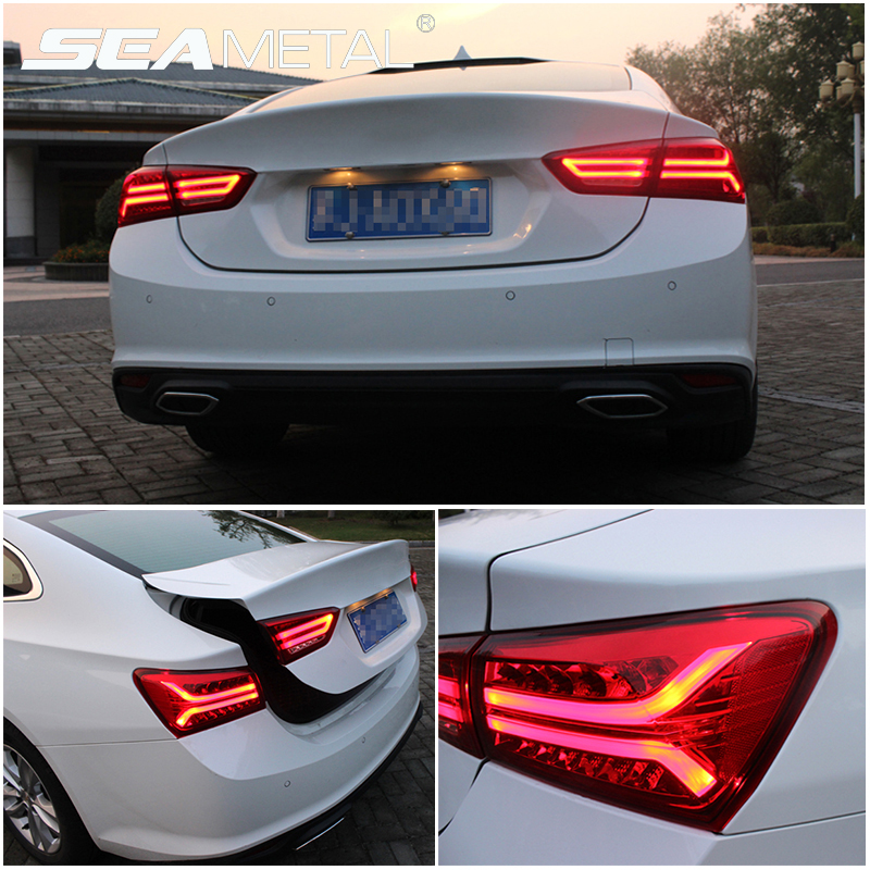 Car Taillights For Chevrolet Malibu 2017 2018 Auto Tail light Rear Lights With Fog Lamp Reversing