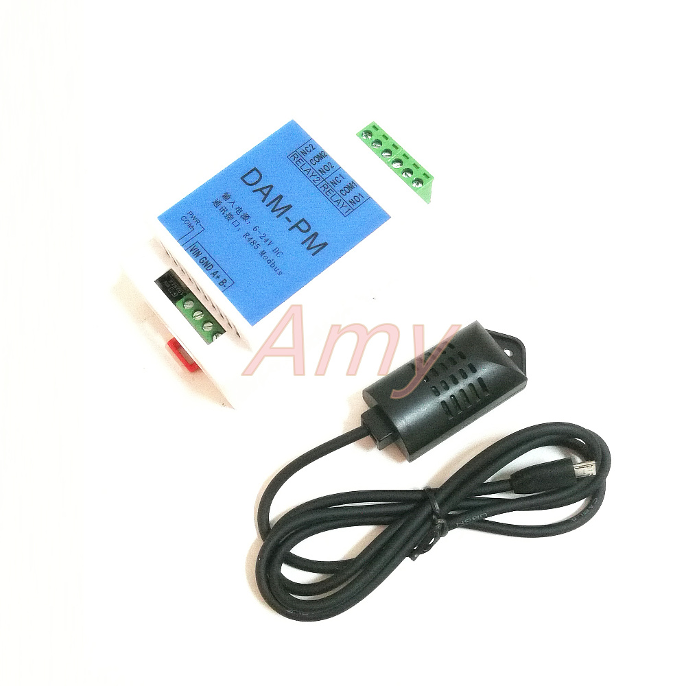 Laser dust sensor dust transmitter PM2 5 temperature and humidity MODBUS 485 upper and lower limit