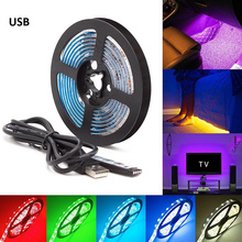 LED Strip Kitchen Night Lamp TV Mood Light Multi Color Super Bright USB Battery Operated Home Decor Party Remote Contral