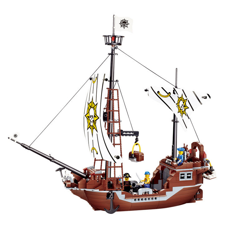 JieStar Avenger Pirate Revenge Sweep Pirate Building Blocks Bricks Sets Kid Giocattoli Gift Education Toys Compatible with Lepin bmbe табурет pirate