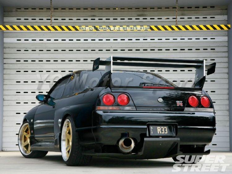 For Nissan Skyline R33 GTR FRP Top-Secret Rear Diffuser w Metal Accessories 3pcs