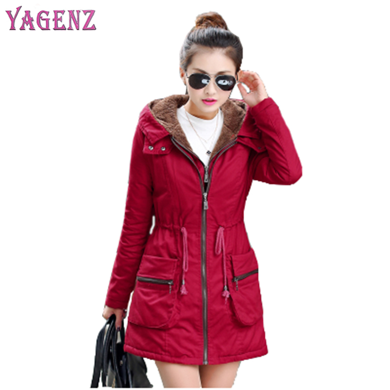2018 Winter Ladies Coat High Quality Long Section Thickening Female Cotton Jacket Hooded Keep Warm Women