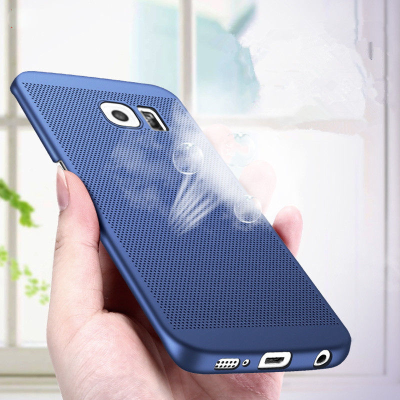 Luxury Heat Dissipation PC Hard Back <font><b>Case</b></font> For <font><b>Samsung</b></font> Galaxy J4 J6 J8 A6 A8 2018 S8 S9 Plus S6 <font><b>S7</b></font> Edge A3 A5 J3 J5 J7 2016 2017 image