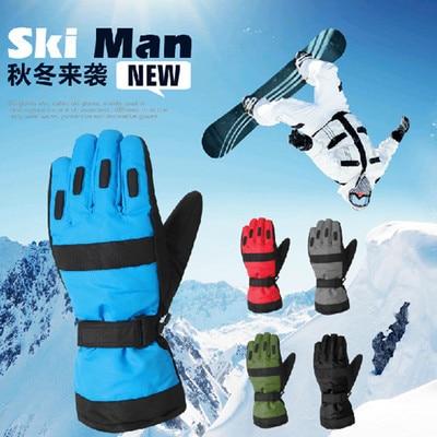 Frank 1 Para Wasserdichte Thermische Männer Winter Ski Handschuhe Snowboard Snowmobile Motorrad Fahrrad Outdoor Sports Handschuhe 5 Farben Saa0020 Sport & Unterhaltung