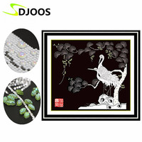 5D Pattern Diamond Embroidery Partial Sale White Cranes Birds Animals Diy Kits 3d Painting Embroidery Diamond