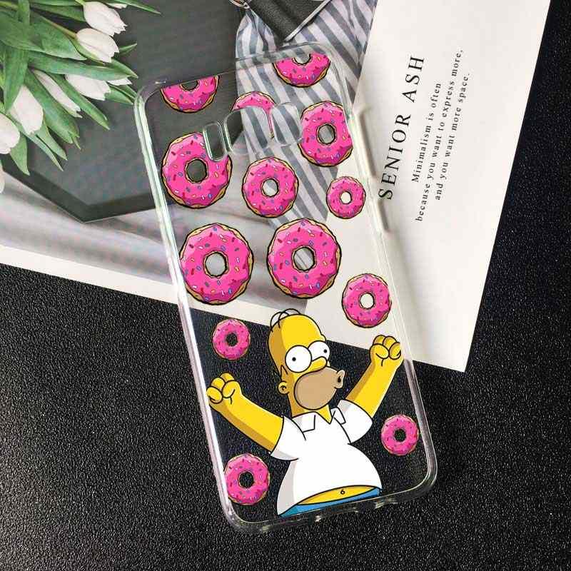 PUNQZY Homer J Simpson komik Bart Simpson Coque karikatür telefon samsung kılıfı Galaxy A70 A50 S11 S8 S9 S10 artı yumuşak TPU kılıf