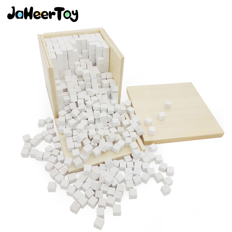 JaheerToy  Montessori Educational Toy White Cube Wooden Toys Small Blocks Geometric Assembling Block for Children for Kids montessori educational wooden toys trinomial cube magic toys for children kids toys math learning creative oyuncak